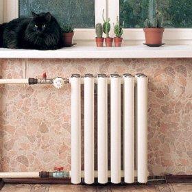 Установка чугунного радиатора отопления 64