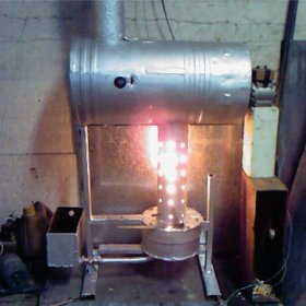 Как сделать печь на отработке своими руками видео 91