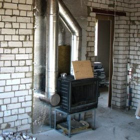 Буржуйка какой дымоход камины установка трубы
