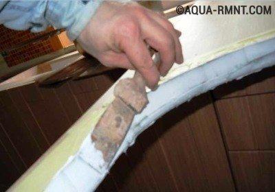 Обработка торцов герметиком