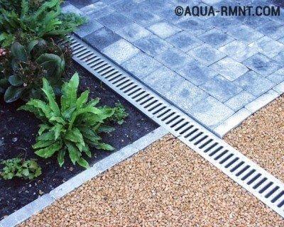 Ливневая канализация для дачи, линейный тип системы