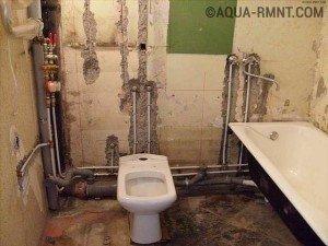 Красивая разводка труб в ванной