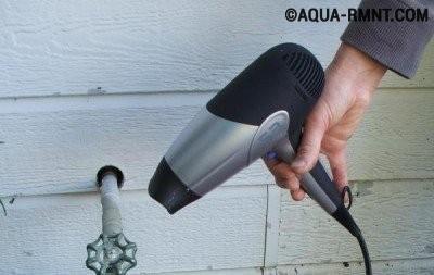 Решение проблемы разморозки водопроводной трубы
