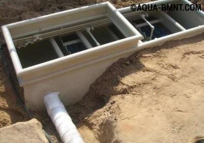 Монтаж септика Тверь производят в подготовленную траншею на песочную подушку, пространство вокруг емкости засыпается также песком