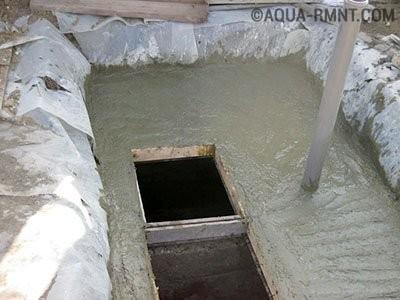 Монолитный бетонный септик для дачи своими руками устройство септика из бетона