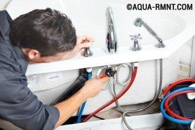 Установка смесителя на борт ванны