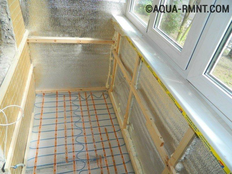 Теплый пол на балконе и лоджии - 3 варианта устройства своим.