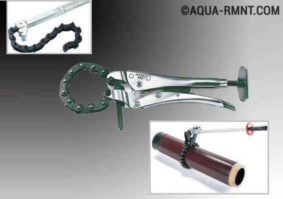 Труборез цепной для стальных труб