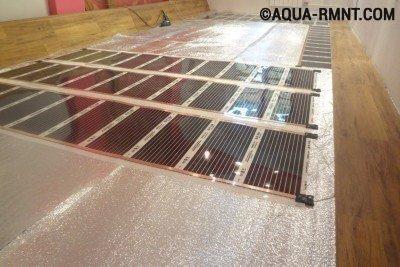 Подключение инфракрасного теплого пола к электросети