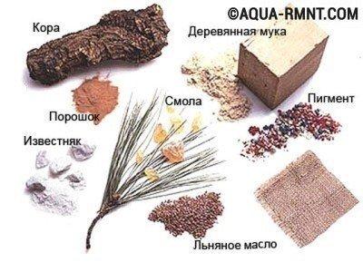 Компоненты натурального линолеума