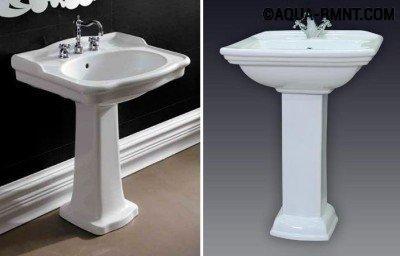 Раковина для ванной с пьедесталом: варианты дизайна