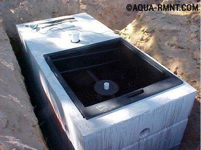 Для установки очистного оборудования необходим небольшой участок земли