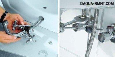 Установка раковины в ванной: монтируем смеситель