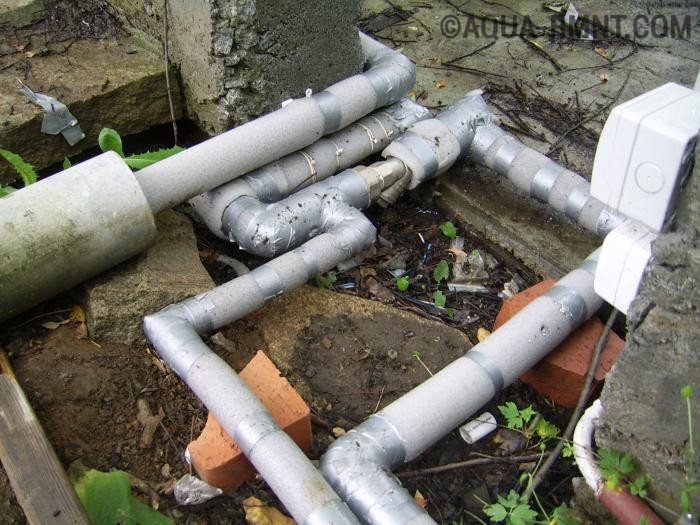 Утепление наружного водопровода в земле — выбор подходящей теплоизоляции и ее монтаж