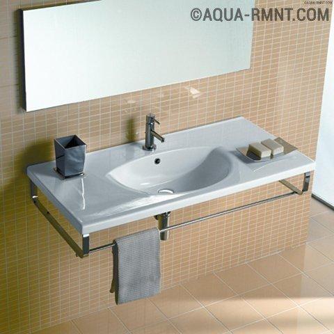 Установка раковины в ванной комнате на примере консольной конструкции