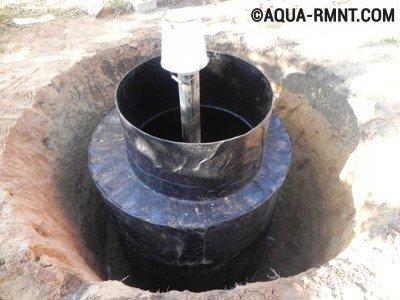 Обустройство водяной скважины: установка стального кессона