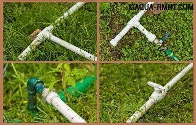 Разводка труб для летнего водопровода