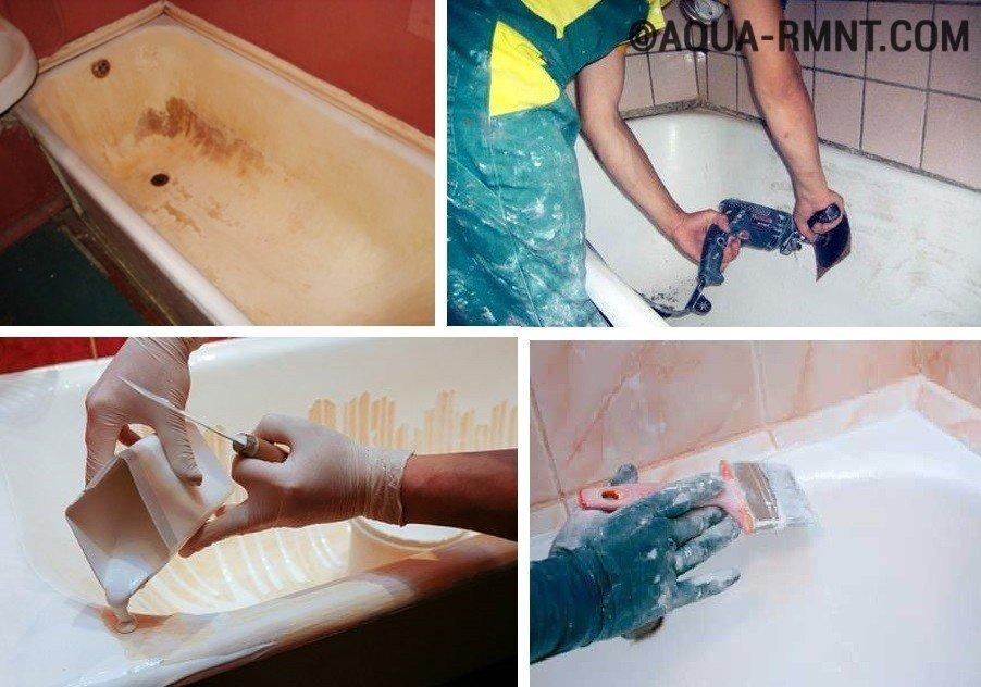 Как покрасить акриловую ванну своими руками