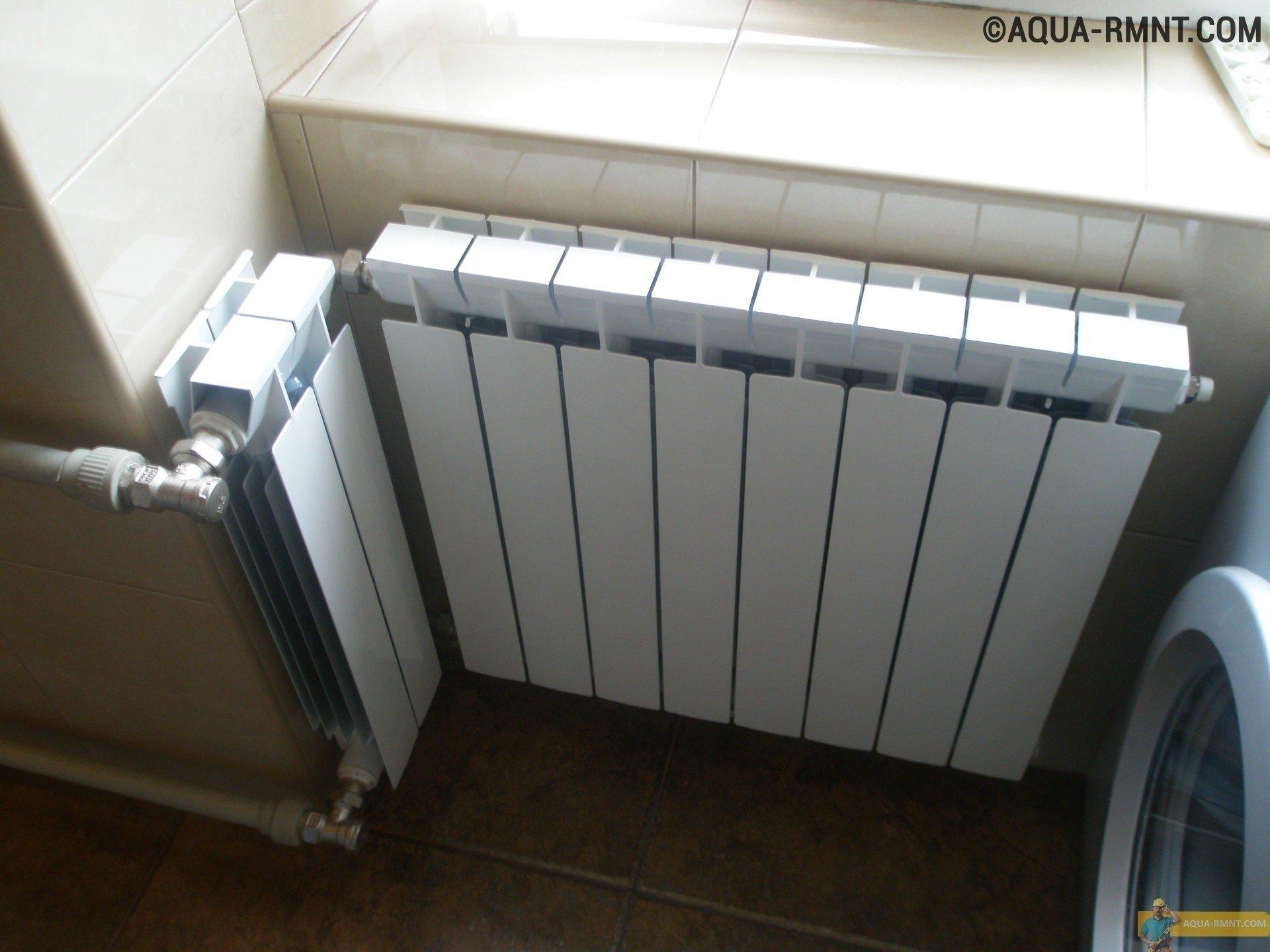 Радиатор отопления в ванной