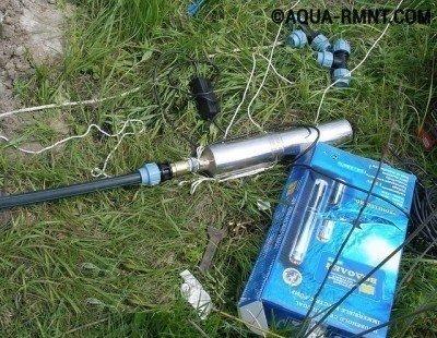 Скважинный насос водолей перед погружением нужно подготовить