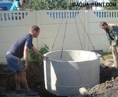 Строительство дачного туалета с использование бетонных колец
