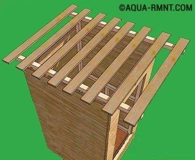 Постройка крыши для туалета на даче