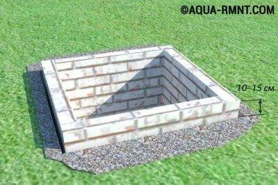 Строим туалет на даче с выгребной ямой из кирпича