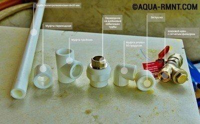 Набор для создания водопровода на даче