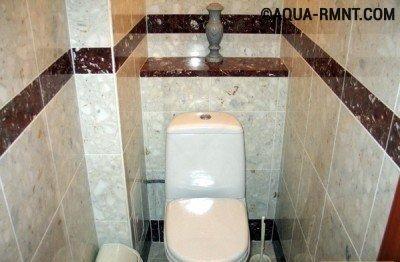 Короб в туалете - эстетично и удобно
