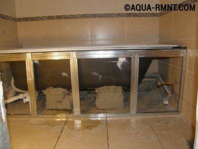Каркас из металлического профиля для короба под ванну