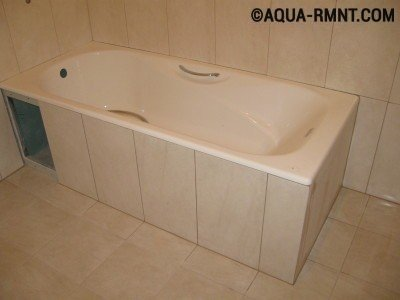 Декор ванны керамической плиткой