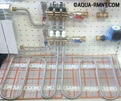 Распределительный коллектор при лучевой системе отопления