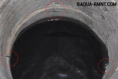 Ремонт колодца: смещение бетонных колец