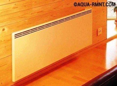 Электрическое отопление в частном доме: настенный конвектор