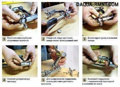 Как починить двухрычажный кран