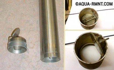 Конструкция плоского клапана желонки