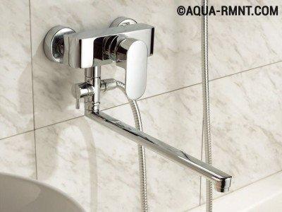 Однорычажный универсальный смеситель для ванной
