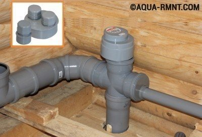 Фановый клапан для канализации регулирует давление в системе