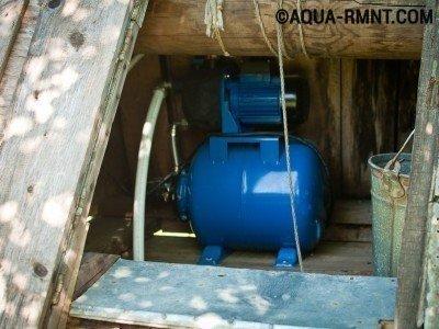Водопровод на даче из колодца: тип насоса