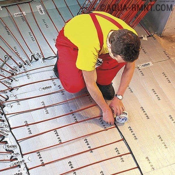 Устройство и установка электрического теплого пола — кабельного, на основании и инфракрасного