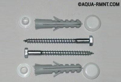 Крепление унитаза к полу: крепежи для оборудования