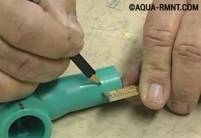 Сварка полипропиленовых труб своими руками: размечаем деталь