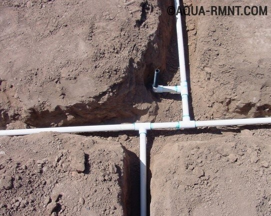 Прокладка водопровода на даче