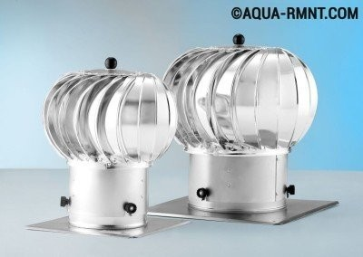 Обратная тяга в дымоходе:  ротационная турбина