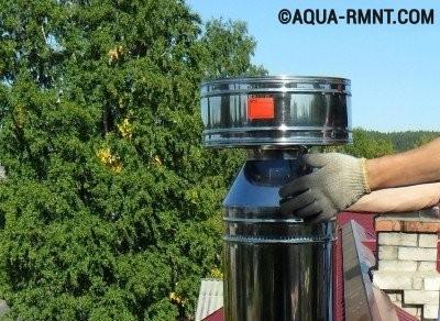 Установка дефлектора на дымоход
