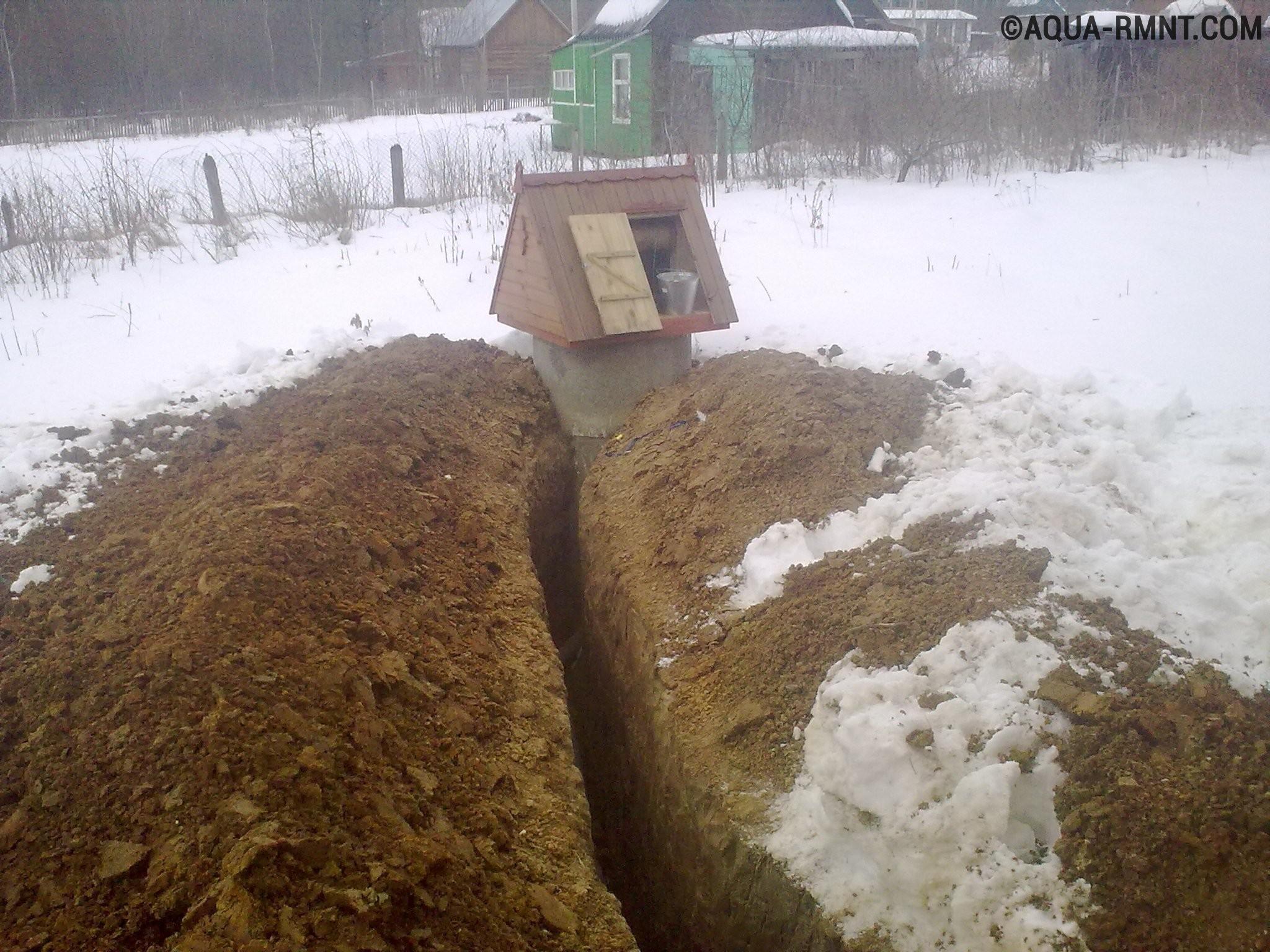 схема проведения воды со скважины в доме