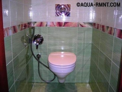 Подвесной унитаз со встроенным гигиеническим душем