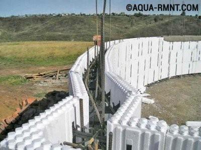 Бассейн своими руками: вариант из пенополистирольных блоков