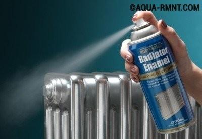 Окрашивание батареи отопления