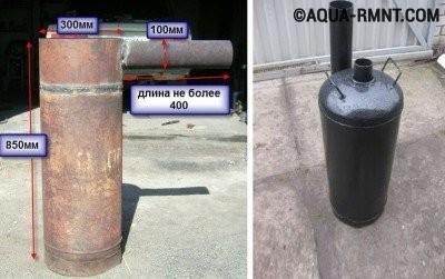 Буржуйка из газового баллона своими руками